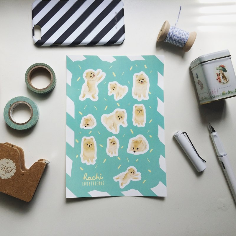 Pomeranian Sticker (3 pcs/ set)