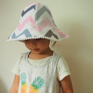 Handmade reversible baby kid hat