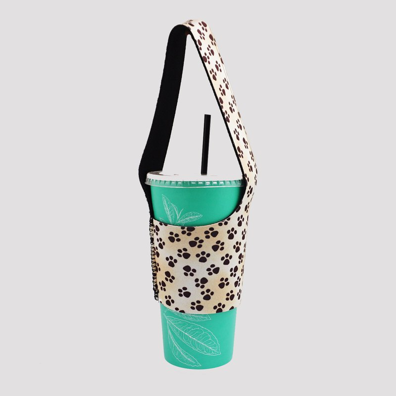 BLR green drink bag bag I go TU03 dog footprints