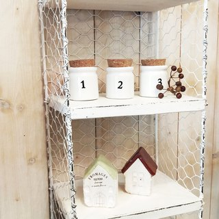 [Good Day Fetish] Japanese Ivory White Iron Net Design Shelf