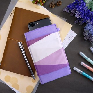 GEOMETRY【LAVENDER PURPLE】OM CLEANING-FIBER CELL PHONE POUCH SUMMER-LIMITED