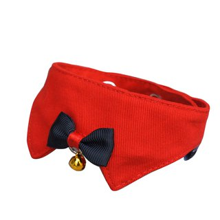 Pet cat collar / cat special baby button plain red
