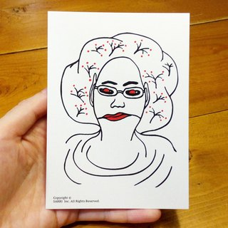 Alien Aunt (can create A3 size posters) Birthday Card Design Coloring Illustrator Picture Card Universal Card Art Love Special Funny Strange Character Strange Cute Taiwan Playable