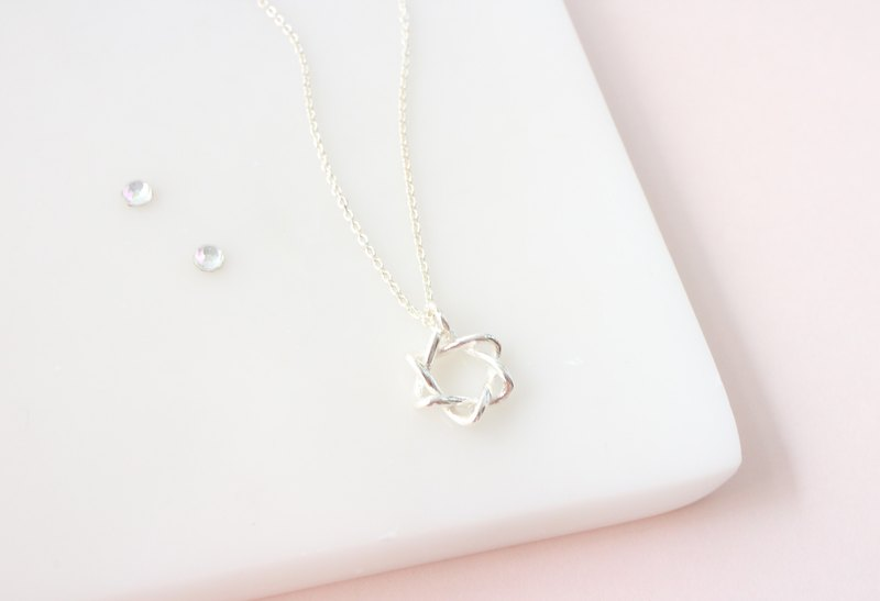 Six-pointed star 925 sterling silver six-pointed star necklace birthday gift Tanabata Valentine's Day gift anniversary