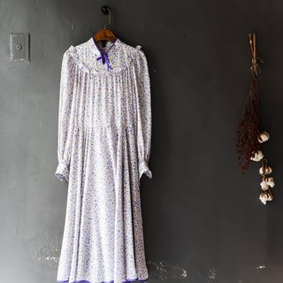 River water mountain - Nagasaki small vertical collar violet elegant girl antique dress silk dress overalls oversize vintage dress