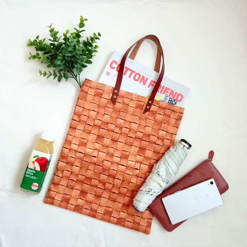 [BA4 / Ace Tote Bag] Woven Leather Realistic Printing