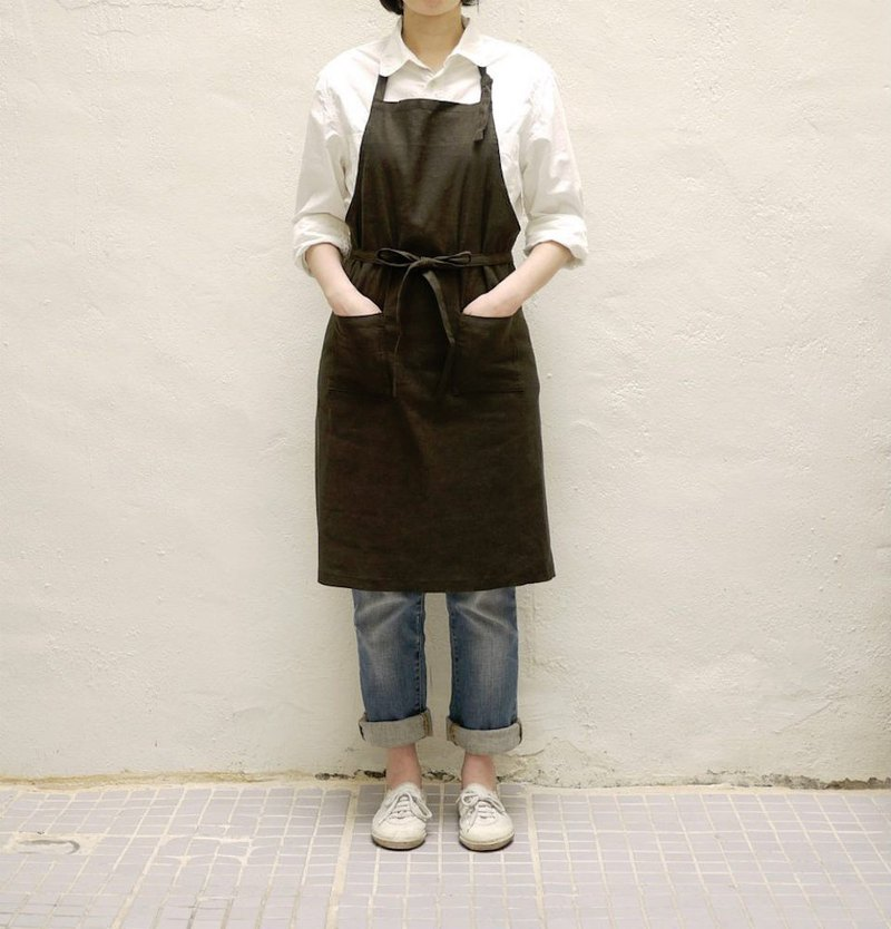 Custom - girls linen apron