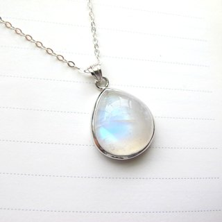 [One Moonlight - Fluffy Moonlight] Moonstone x 925 Silver Bag - Handmade Natural Stone Series