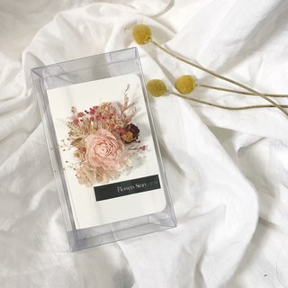 / Dry Flower Card / Teacher's Day Thanksgiving Card - Pink