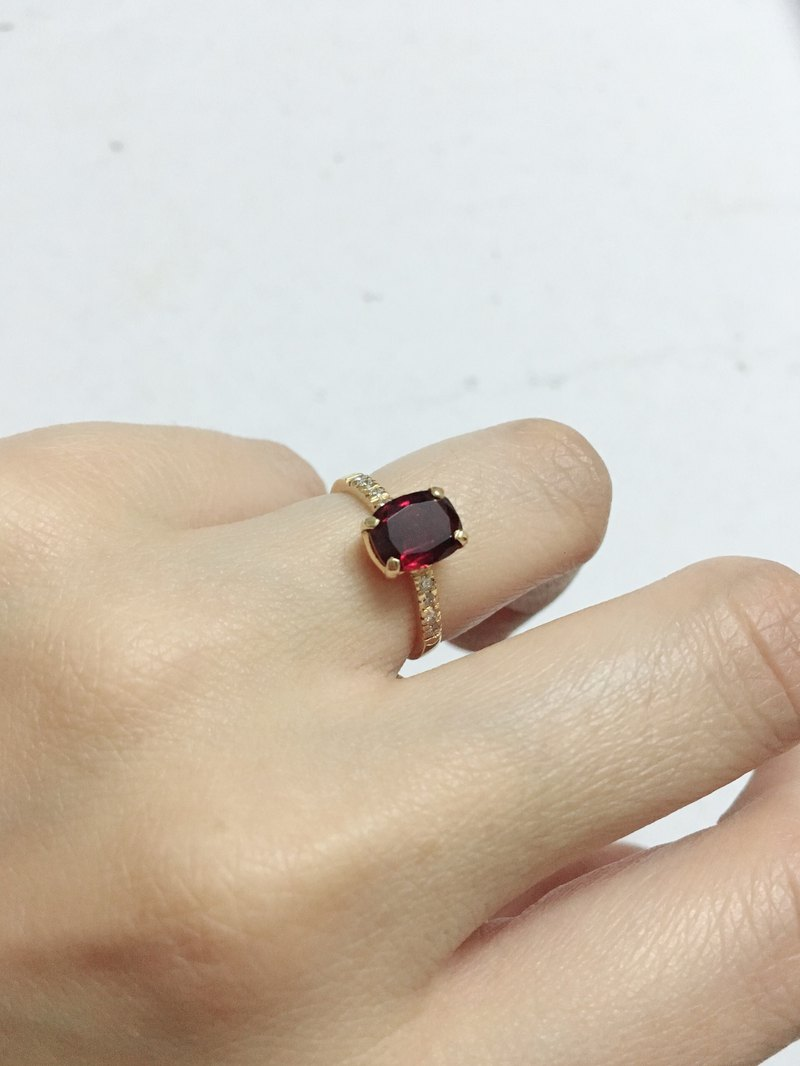 Pigeon Blood Tourmaline with Diamond Made in 14 carat Gold Handmade in Nepal
