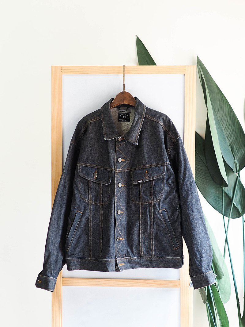 lee dark black blue youth travel summer love antique cotton denim denim jacket vintage denim