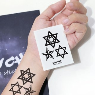 TU Tattoo Sticker - five star, Star Collection / Tattoo / waterproof Tattoo / original / Tattoo Sticker