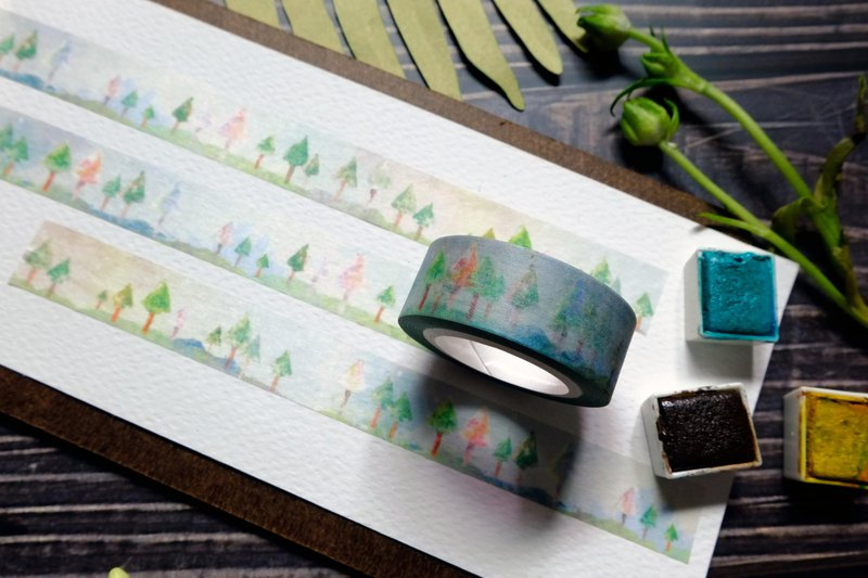 Level ground and trees / washi tape