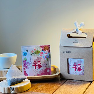 Thanks to Thankful-Taiwan No. 18 Ruby - Hand Picking Original Leaf Stereo Tea Bag / 5 into Small Gift Box