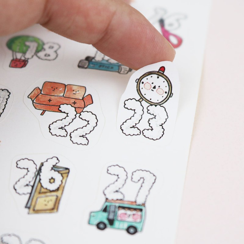 kiss cut sticker - Marshmallow date