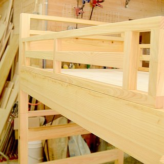 Bunk Bed Frame|can take part into two beds