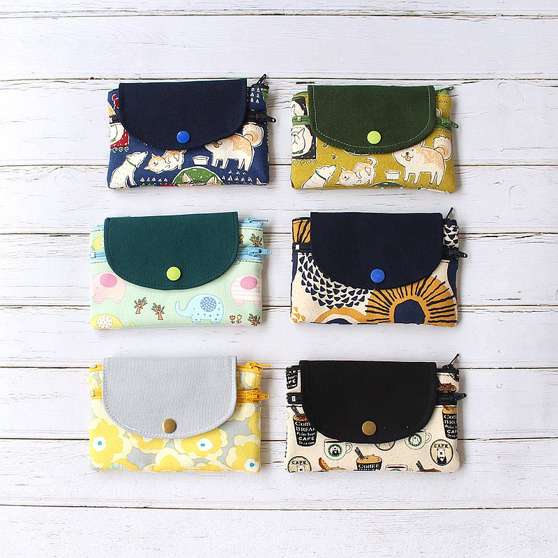 Double-layer coin purse 6 colors (with cover)