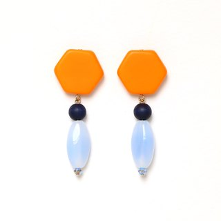 sea ​​sunset bead earrings · earrings