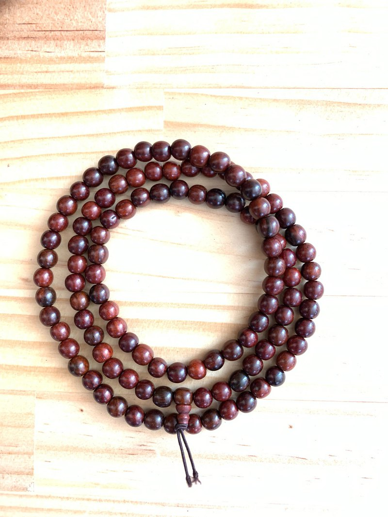 Red rosewood 108 beads