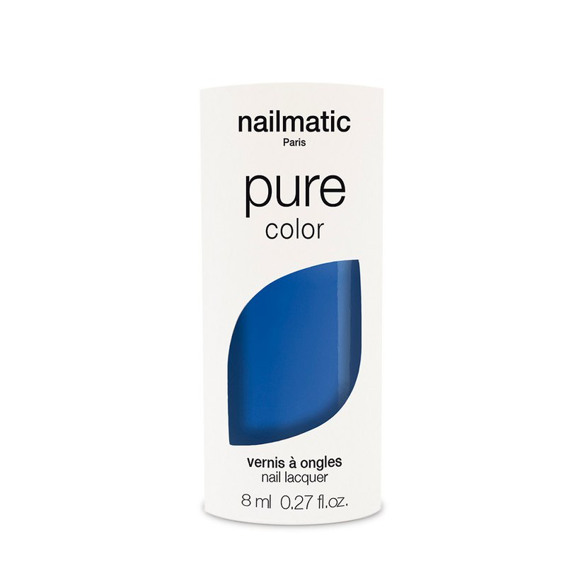 Nailmatic Pure Color Bio-Based Classic Nail Polish-CHARLIE-Navy Blue