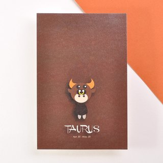 The 12 constellations character birthday card and postcard - Taurus