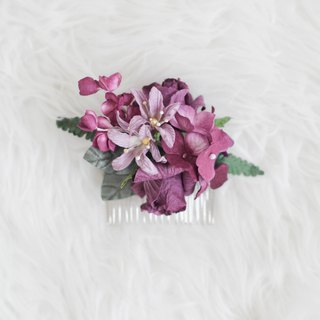 Sweet Purple - Paper Flower Hair Comb