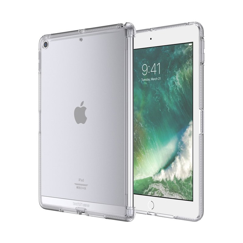 Tech21 iPad 5th / 6th generation crash hard fog-proof protective shell - Fog through (5055517380812)