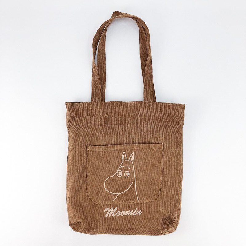 Moomin Authorized - Corduroy Tote (Brown)