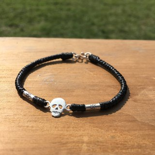 Hands irregular ‧ x wax line □ ■ □ ■ 925 small silver skull