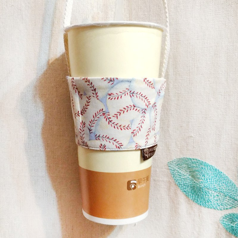 Green Handmade beverage bag