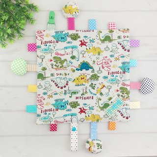 Doodle Dinosaur - 3 models are available. Cotton ball X cotton cloth label paper comforting towel (free embroidered name)