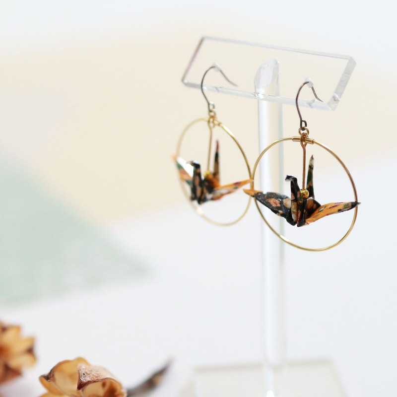 Crane earrings-patternF-
