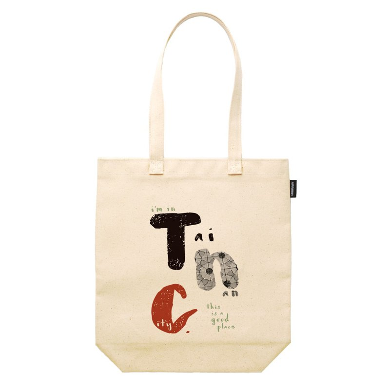 Tainan Text TNC Synthetic Canvas 12oz Heavyweight Tote