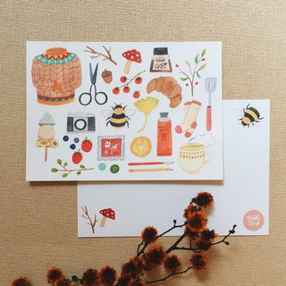 Fav Things About Autumn Postcard