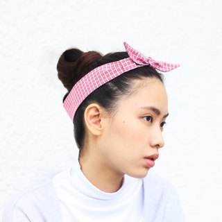 【The MAMA's Closet】Checked Series (Red) / Classic Headband