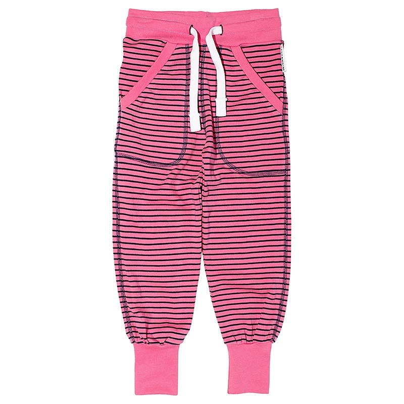 [Swedish children's clothing] children's organic cotton trousers pink / blue