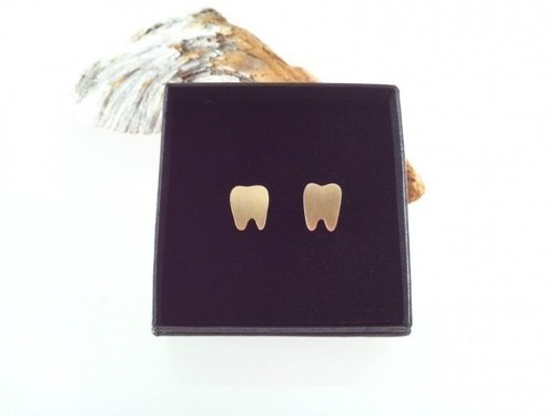Tooth Brass cuff ◇ teeth brass cuffs of ◇