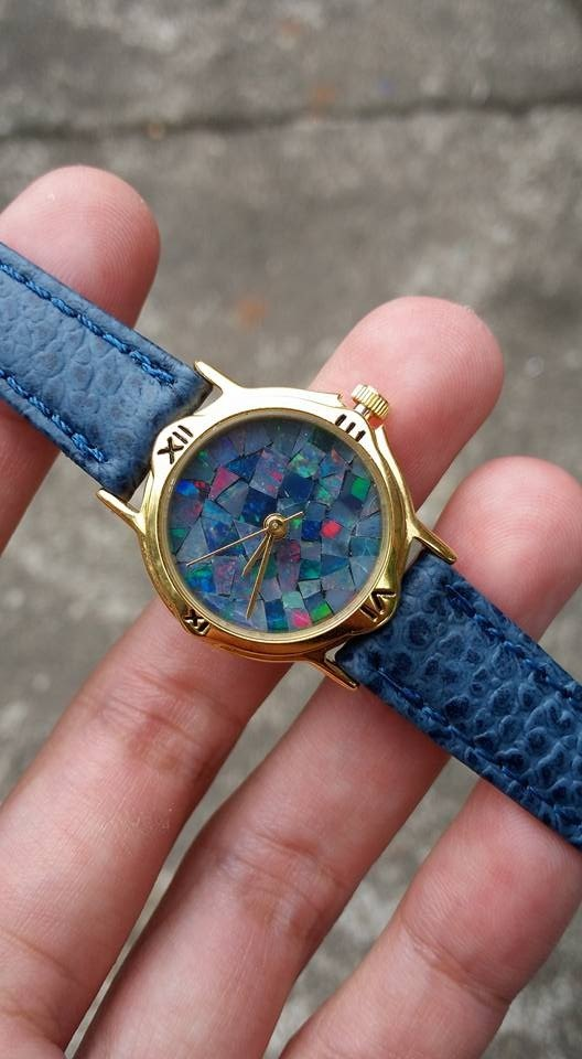 【Lost And Find】Natural  fire‎ opal gemstone watch