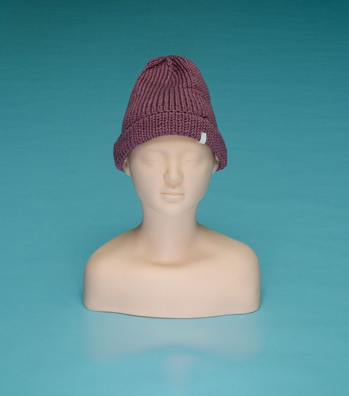 over the basic ♦ plain - light purple OTB012 hand-woven wool cap