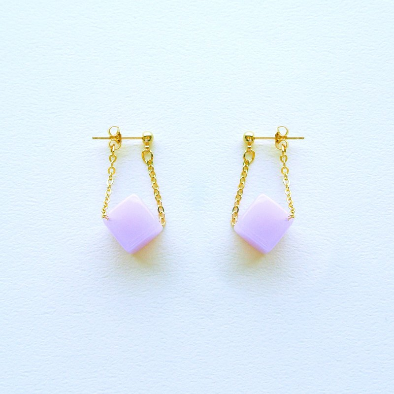 Chicken Maru lab micro-sweet early summer lavender sugar sway earrings / ear clip (ED002)