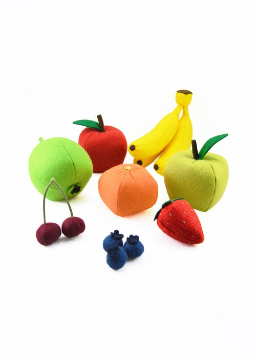 FRUITS SET felt toys