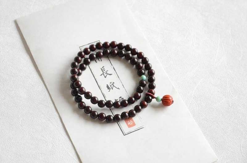 [Lotus] Natural Indian Leaflet Rosewood Classic Literature Bracelet Bracelet