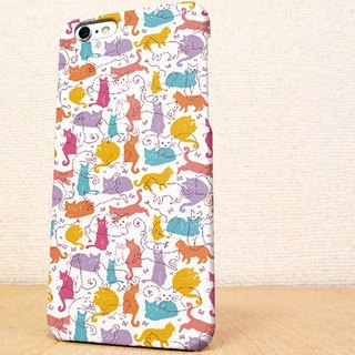 Free Shipping ☆ iPhone case GALAXY case ☆ wool and cat seamless pattern part 3 phone case