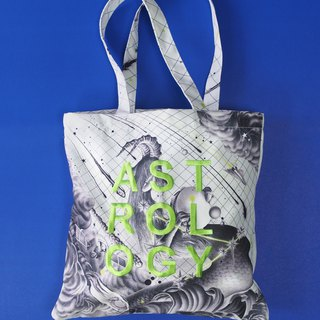 Stardust Printed Tote bag with embroidered decorate