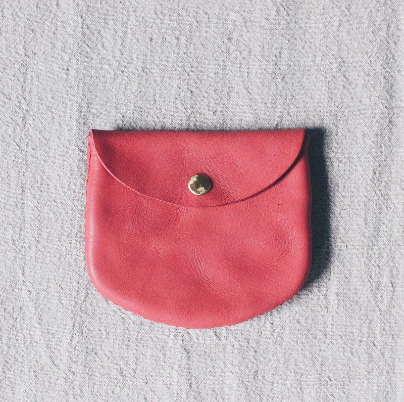 Tanabata limited reddish dyed leather leather coin purse X forest can be