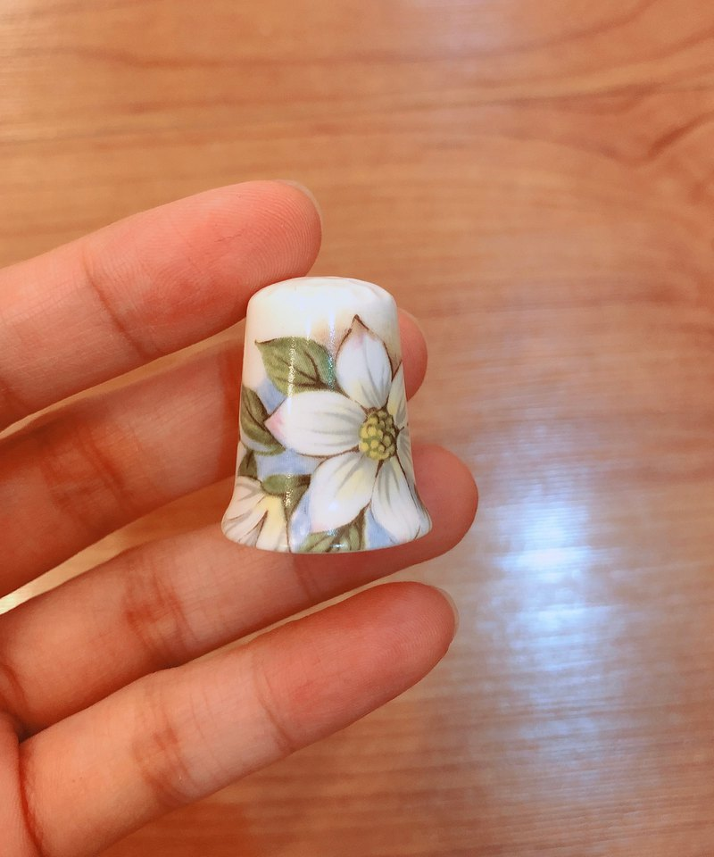 British antique thimble collection flower series G