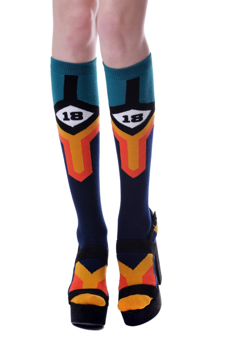 Fool's Day Printed Knee High Socks - Sport 18. KH