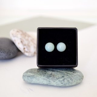 【Paisible】 【Sphere / Natural Ore Stainless Steel Stud Earrings (8mm)