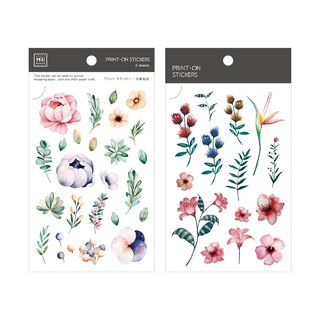 【Print-On Stickers】Flower Series 11 - Summer Garden | Handbook, DIY Friends