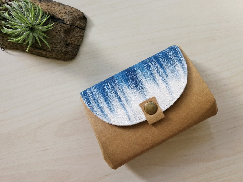 [Sexually coated] Tibetan blue painted short organ wallet